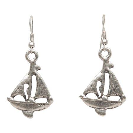 Sailboat Silver Plated Dangle Fashion