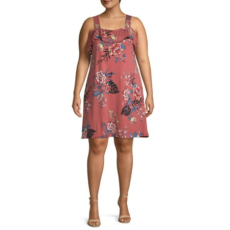 French Laundry Women's Plus Size Off the Shoulder Ruffle Dress ()