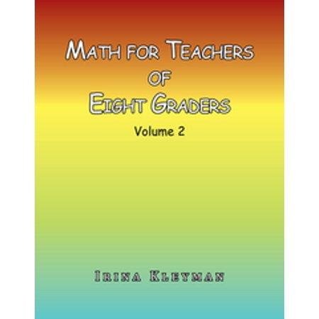 Math for Teachers of Eight Graders - eBook