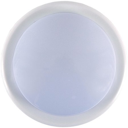 GE Bathroom Lighting 1-Light White Battery Operated Round Mini Tap Light 55219