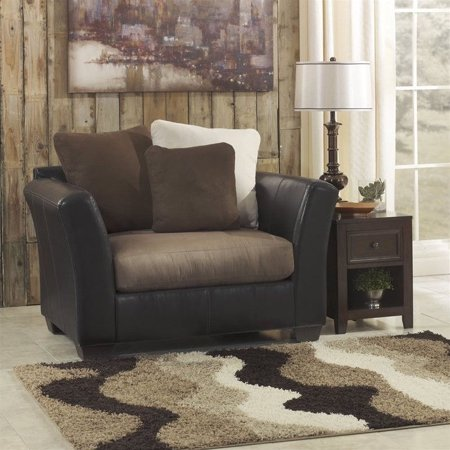 ashley furniture masoli accent chair and a half in cobblestone