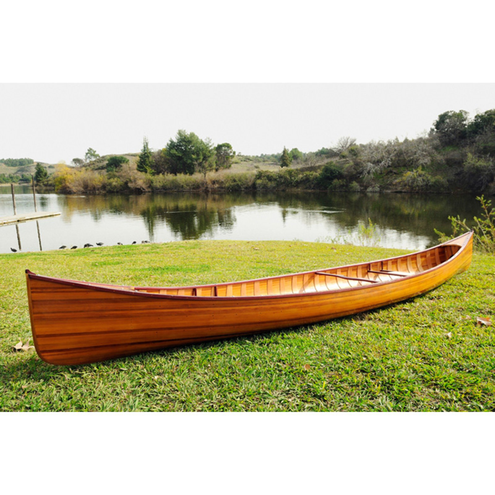 Old Modern Handicraft Real Canoe with Ribs