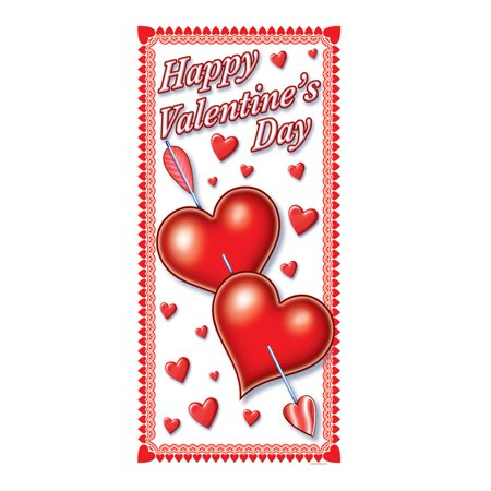 Happy Valentine's Day Door Cover Party Accessory (1 count) (1/Pkg)