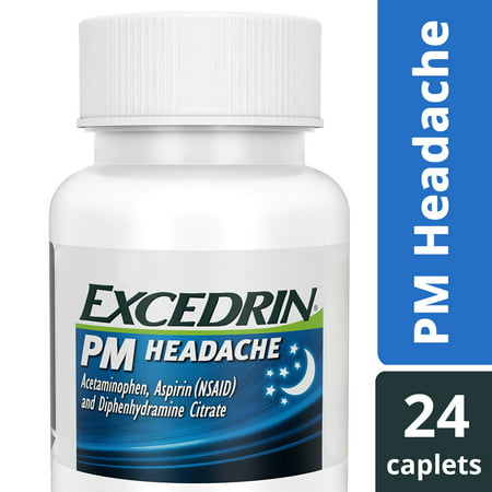 Excedrin PM Caffeine-Free Caplets for Headache Pain Relief and Nighttime Sleep-Aid, 24 (Best Medicine For Stiff Neck)