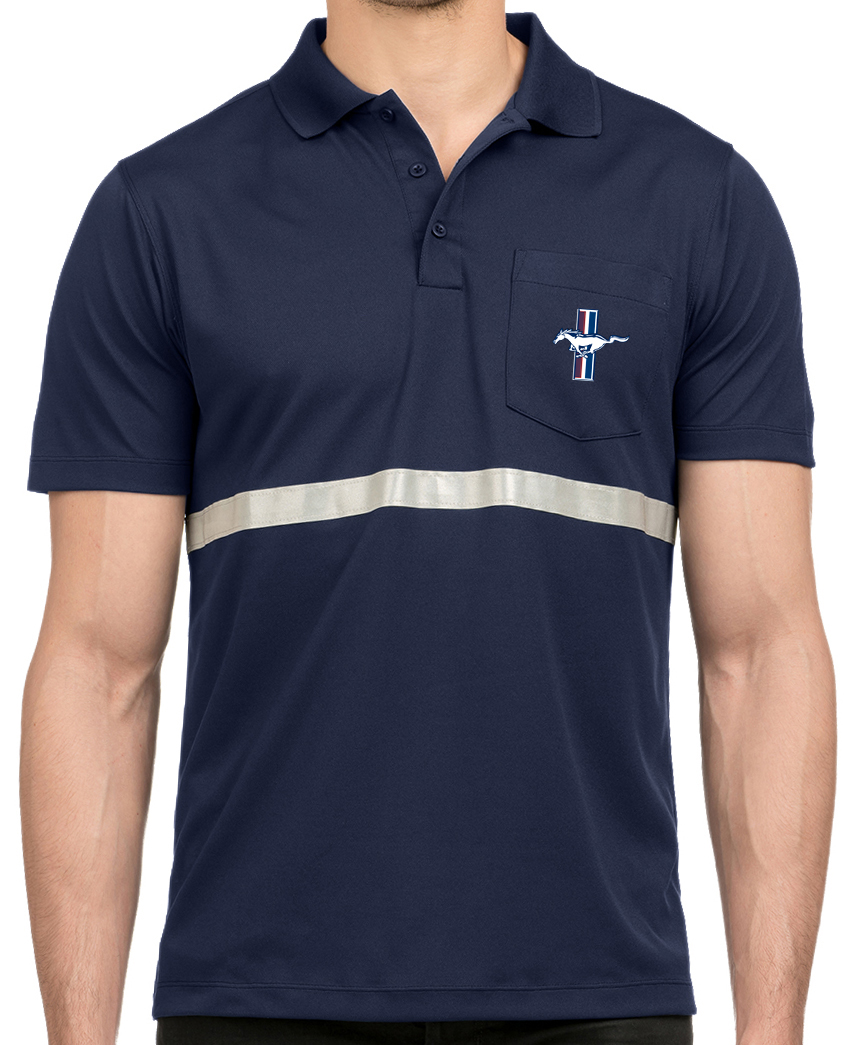 Ford Two Tone Polo Legend Lives Crest Pocket Print