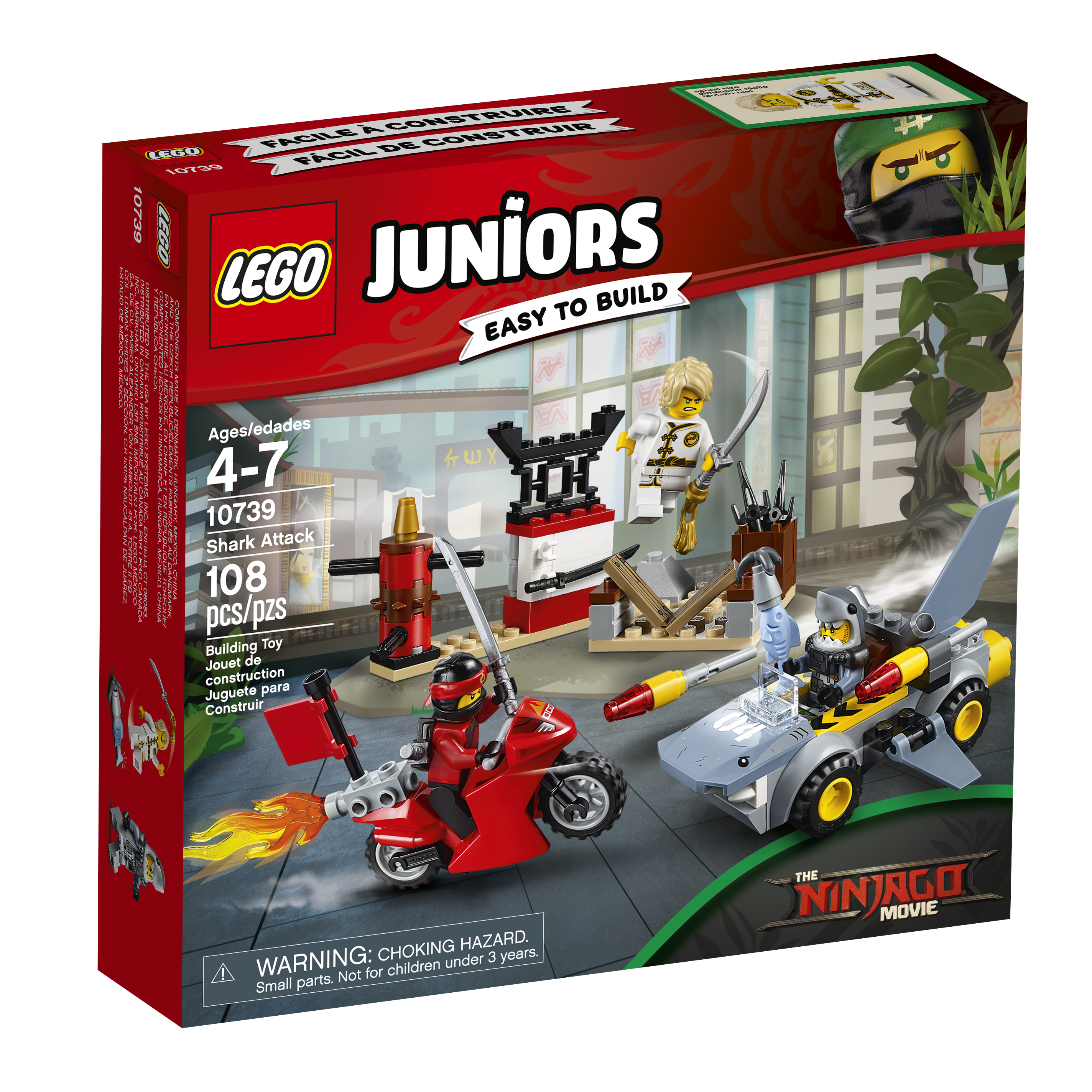 LEGO Juniors Ninjago Movie Shark Attack 10739 (108 Pieces) - Walmart.com -  Walmart.com