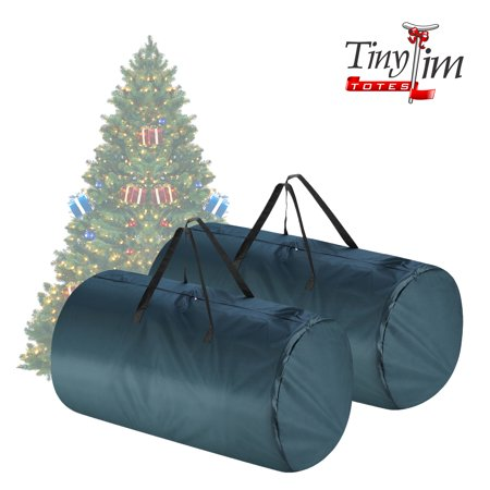 Christmas Totes (Tiny Tim Totes | Premium 2-Pack | Canvas Christmas Tree Storage Bags | Extra Large For 9 Foot and 7.5 Foot Trees |)