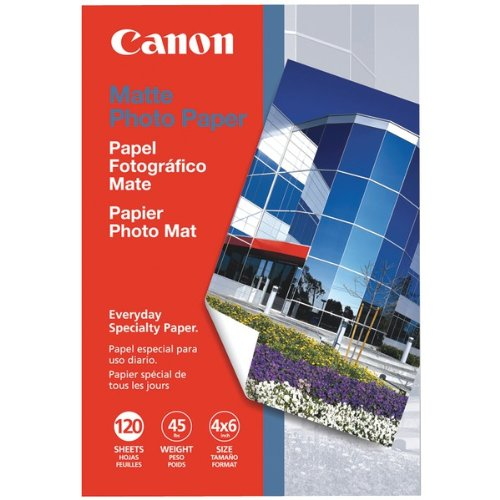 Canon Photo Paper Matte, 4 x 6 Inches, 120 Sheets (7981A014)