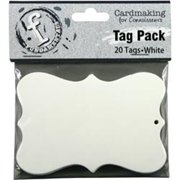 Fundamentals Tags 20/Pkg-Medium Scallop/White