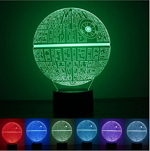 3D Novelty Light lampada led Death Star Table Lamp 3D Bulbing Light Touch Switch Lava Lamp Star Wars night light by