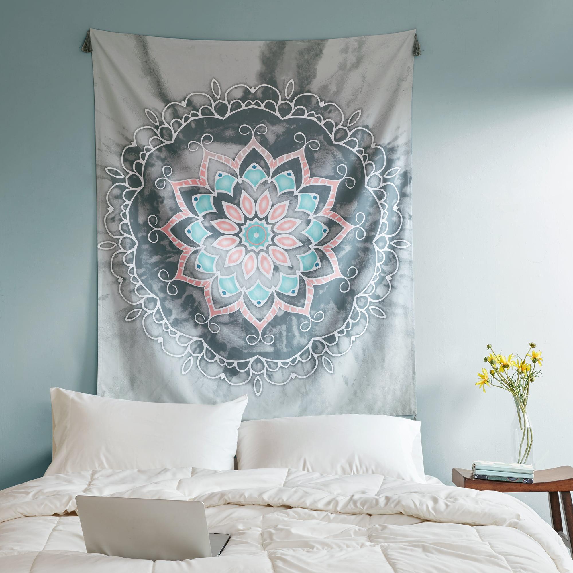 Grey Medallion Bohemian Decorative Wall Tapestry 50 x 60 in. by HANGZHOU BENRUSON HOME TEXTILES CO.,LTD.