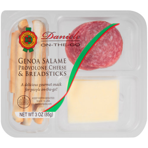 Daniele On-The-Go Genoa Salame, Provolone Cheese & Breadsticks, 3 oz