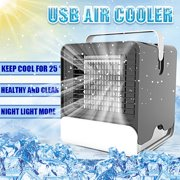 """59x59x67"""" Portable Mini Air Conditioner Fan LED Light Quiet USB Air Cooler for Bedroom Office Home"""