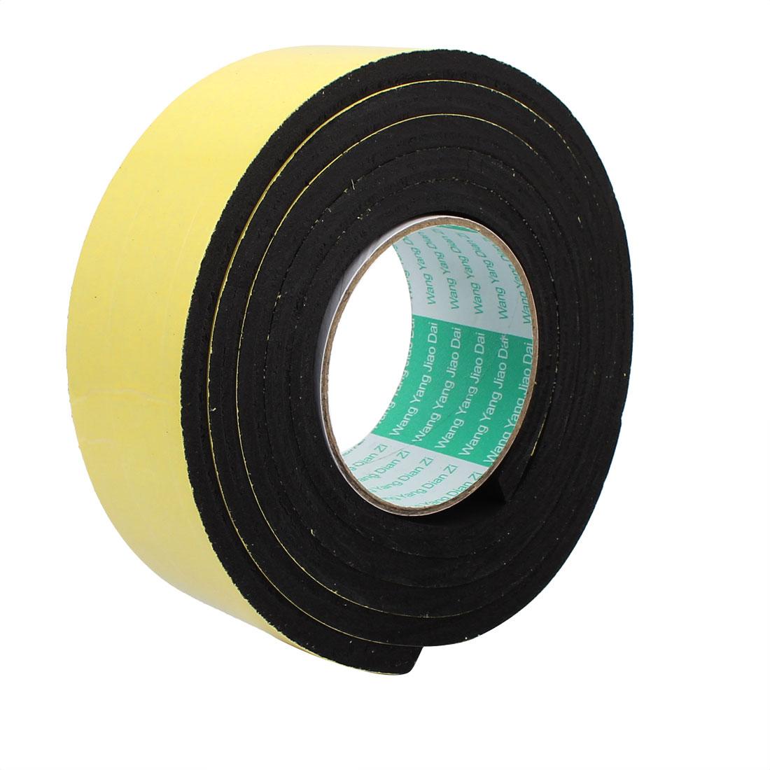 50mm Width 8mm Thickness Single Sided Shockproof Sponge Foam Tape 3 Meter Long