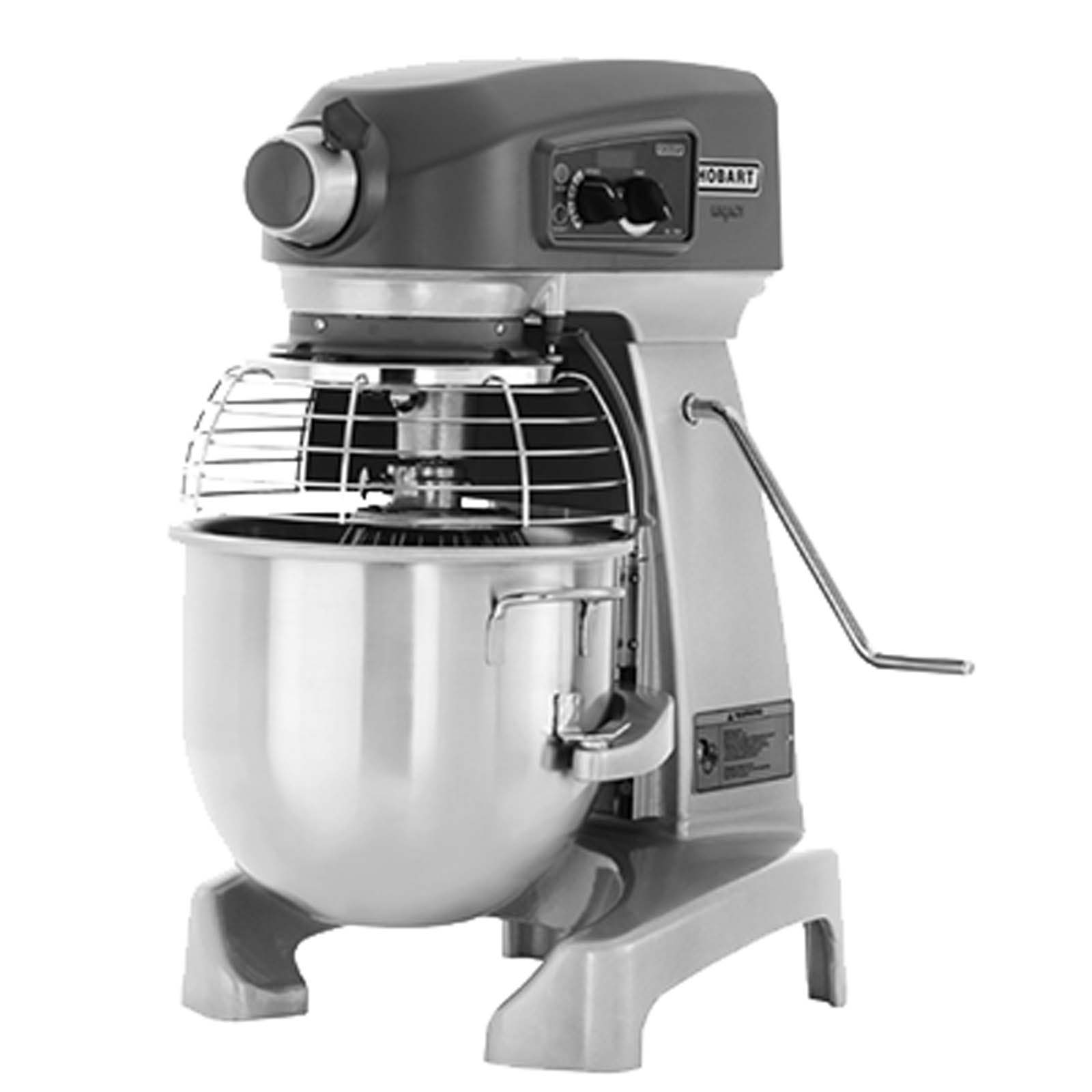 Hobart HL200-1STD Commercial Bench Type Mixer with 20 Qt Mixing Bowl Single Phase by