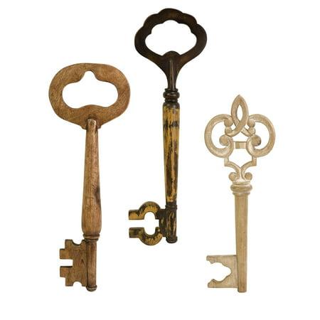 Mason Wood Wall Keys - Set of