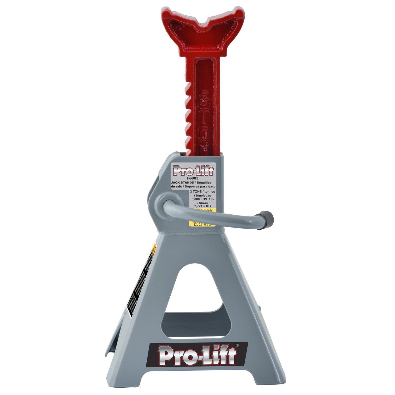 Pro-Lift T-6903 Grey Jack Stand, 3 Ton Capacity