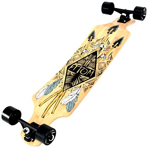 Click here to buy Atom Drop Slant Longboard 39 Inch Bamboo Tiki by Atom.
