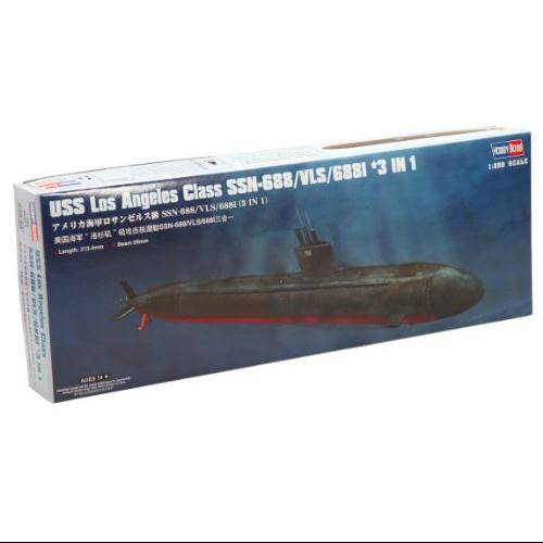 Hobby Boss USS Los Angeles Class SSN-688/VLS/688I 3-in-1 Boat Model Building Kit Multi-Colored