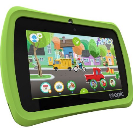 Special Offer Refurbished LeapFrog 31576 Epic 7″ touchscreen 1.3GHz 16GB Android-based Kids Tablet, Green Before Too Late