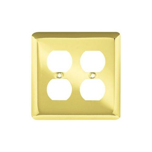 Liberty Hardware  64067  Switch Plates  Stamped Round  Accessory  Double  ;Polished Brass