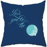 Checkerboard, Ltd To The Moon Throw Pillow