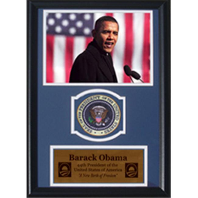 Encore Select 189-IB01507 Barack Obama Speech Photograph with Presidential Commemorative Patch in a 12 inch x 18 inch