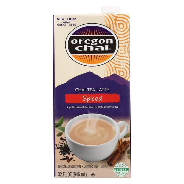 Oregon Chai Tea Latte Concentrate - Spiced - Pack of 6 - 32 Fl Oz.