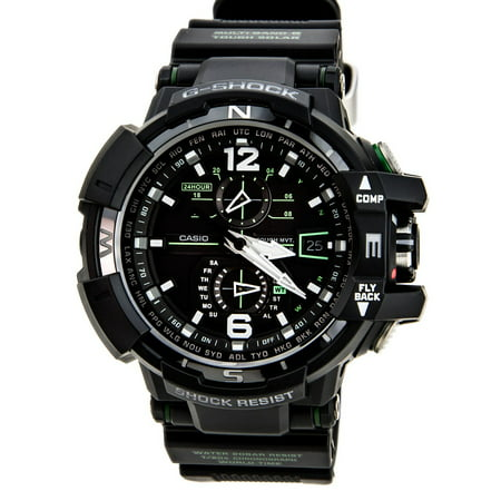 - GWA1100-1A3 Men's G-Shock G-Aviation Atomic Chronograph Solar Power Watch