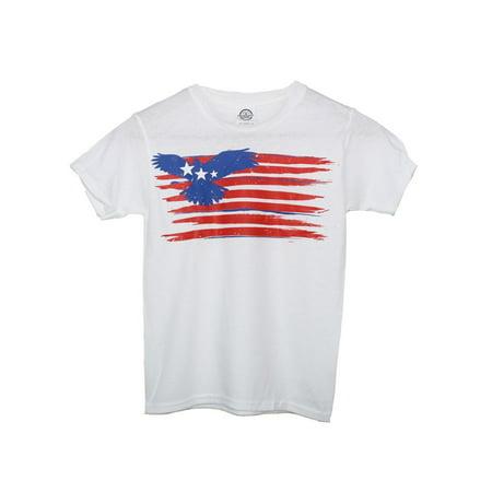 Amercian Eagle Kids (Unisex Kids White American Eagle Flag Print)