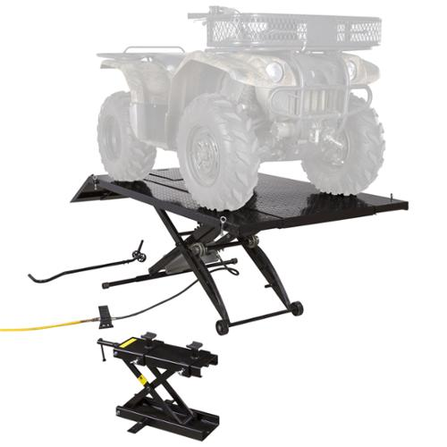 Black Widow ATV Lift Table with 4-Wheeler Center Jack