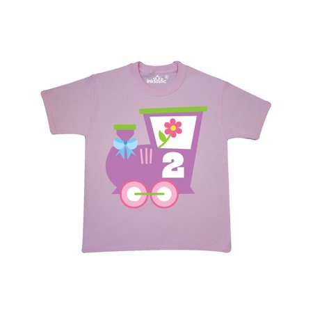 2nd Birthday Train 2 Year Old Girl Youth T Shirt