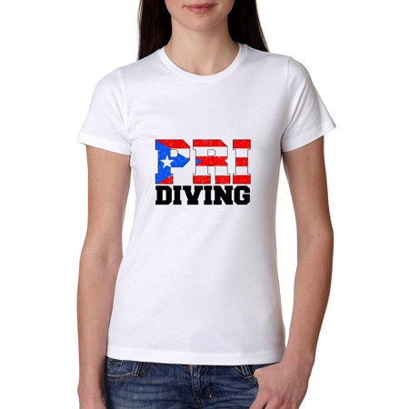 Olympic Diving - Puerto Rico Women's Cotton (Best Diving In Puerto Rico)