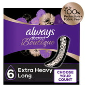 Always Discreet Boutique Incontinence Pads, Extra Heavy, Long, 20 ct