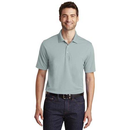 Port Authority 1237111 Dry Zone UV Micro-Mesh Polo Shirt, Gusty Grey - Extra Small