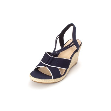 Impo Womens Tegan Fabric Open Toe Casual Platform Sandals
