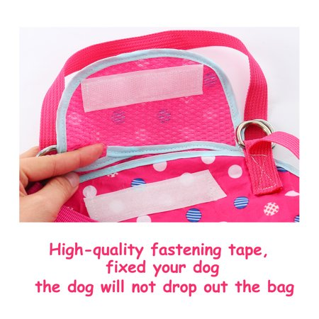 Pet Carrier Backpack, Puppy Holder, Pouch Single Shoulder Carry Tote XL Fuchsia - image 2 of 7