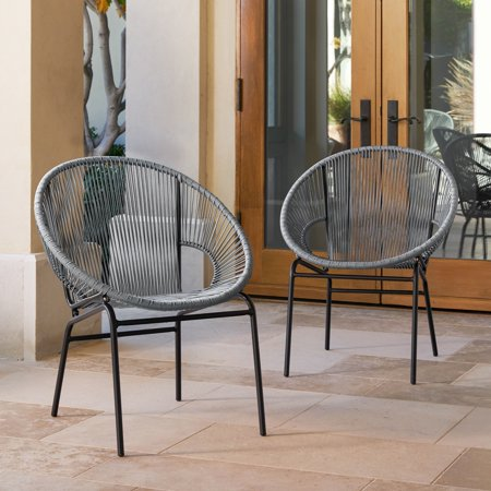 Cool Corvus Sarcelles Woven Wicker Patio Chairs Set Of 2 Gmtry Best Dining Table And Chair Ideas Images Gmtryco