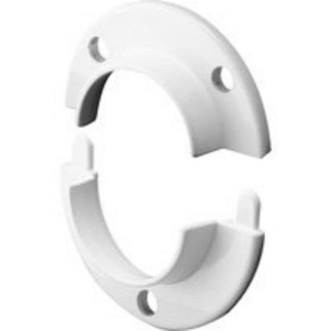 69195 Closet Rod Pole Door Bracket, White - 2 Piece - image 1 of 1