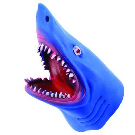 (Price/Box)US TOY 4487 Stretchy Shark Hand Puppets, - Great White Shark Toys