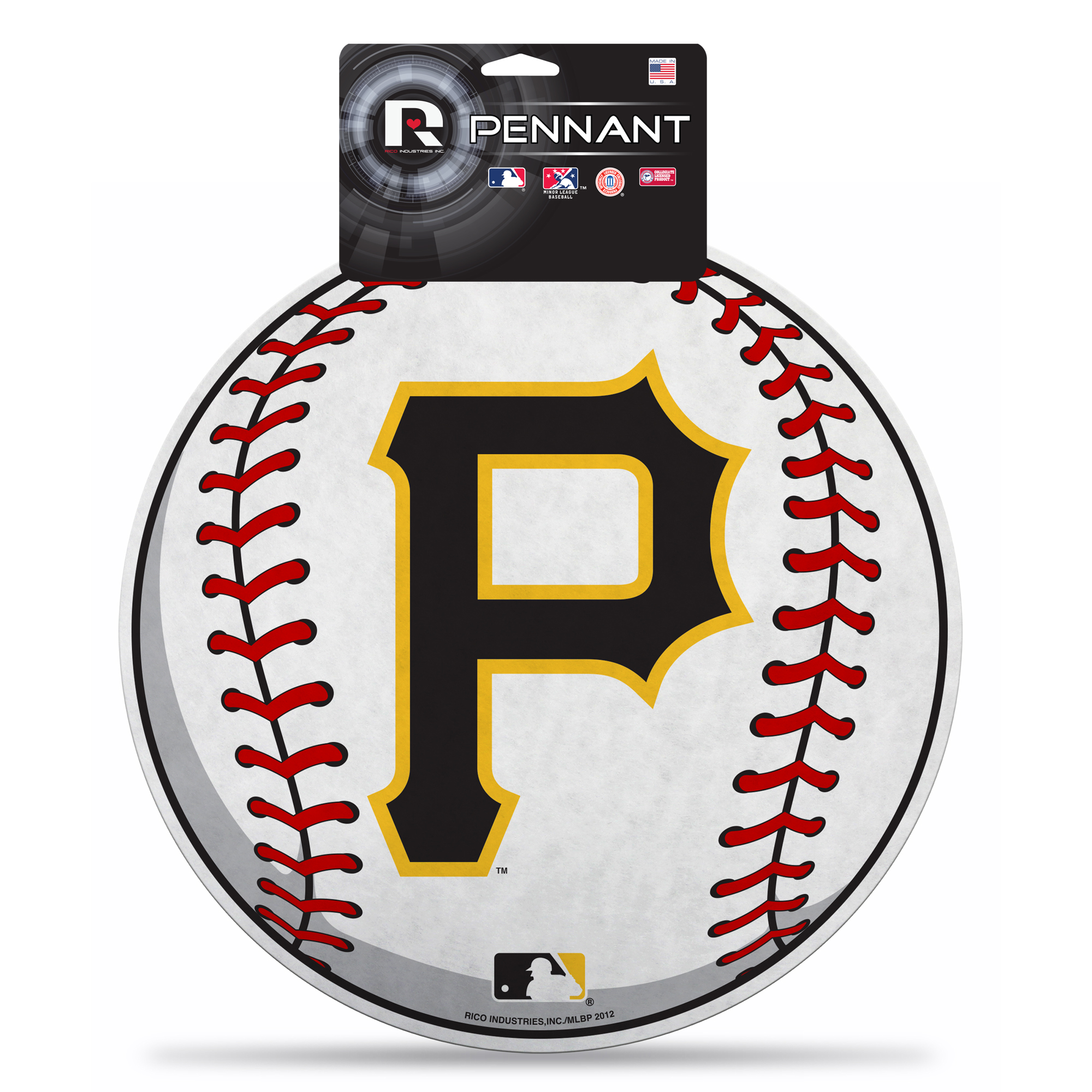 Pittsburgh Pirates Official MLB 14 inch x 14 inch  Die Cut Pennant by Rico
