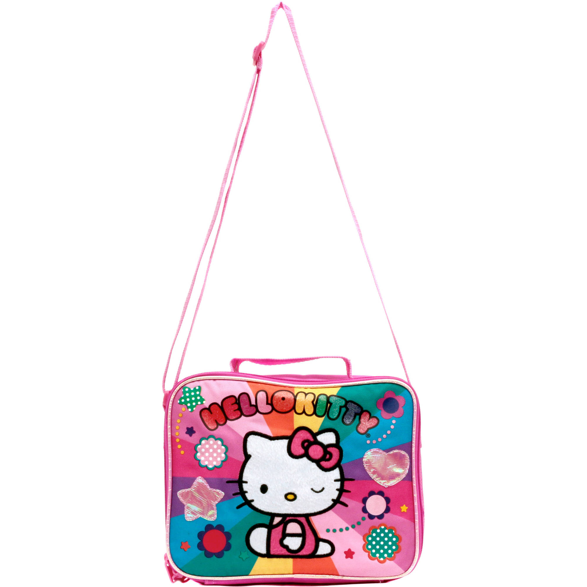 "Hello Kitty ""Rainbow Hearts"" Lunch Kit with Strap"