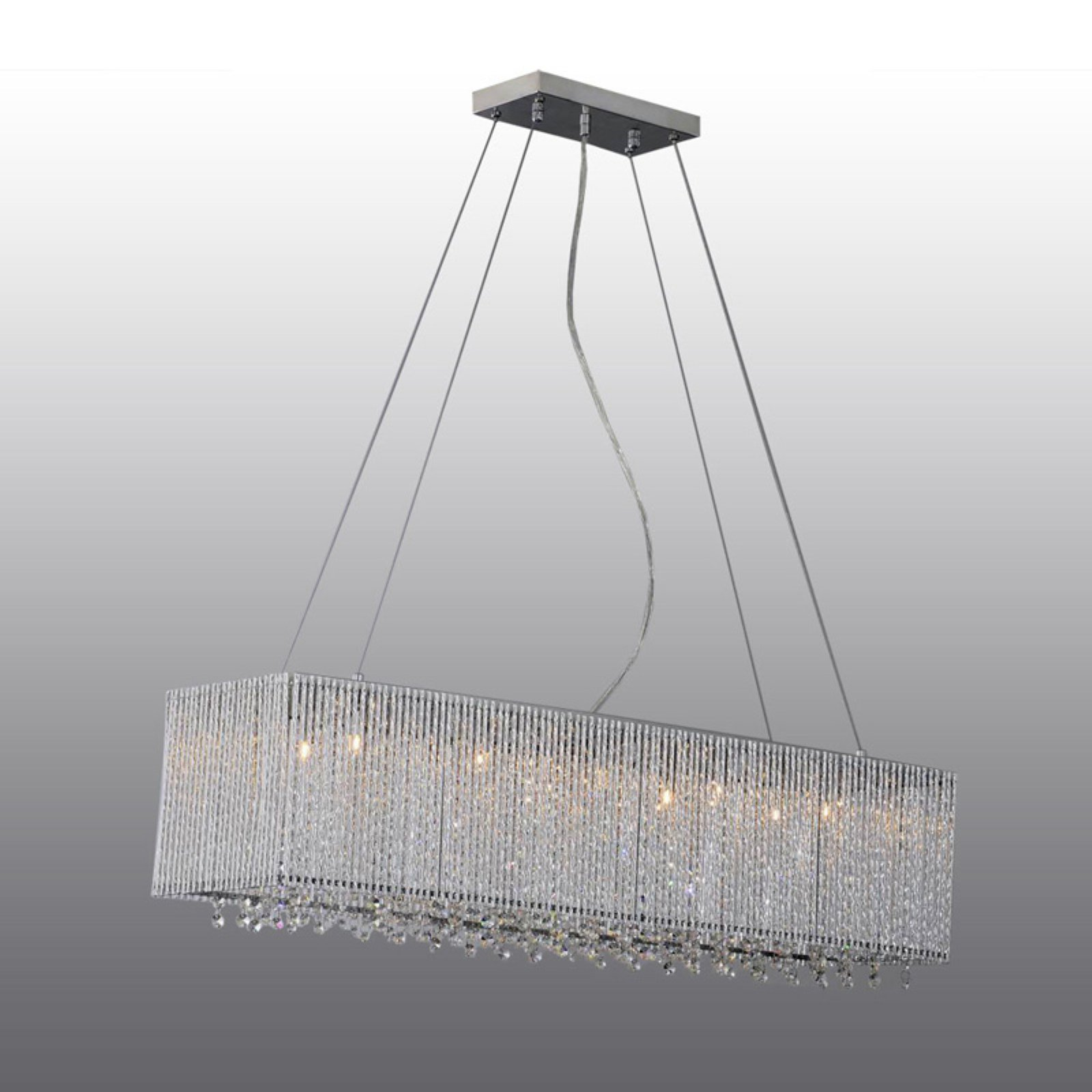 Click here to buy Crystalline Modern 10 Lights Crystals Chandelier by Bromi Design.