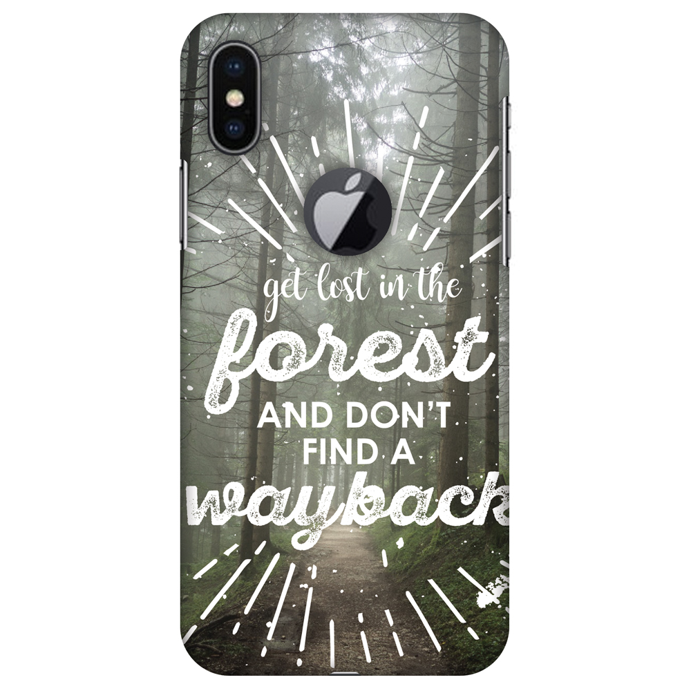 iPhone X Case, Premium Handcrafted Designer Hard Snap on Shell Case ShockProof Back Cover with Screen Cleaning Kit for iPhone X - Lost In Forest, Cut for Apple Logo