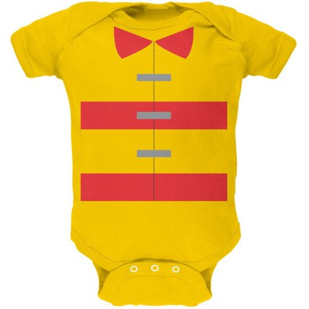 Halloween Fireman Costume Yellow Soft Baby One Piece - Toddler Fireman Halloween Costume