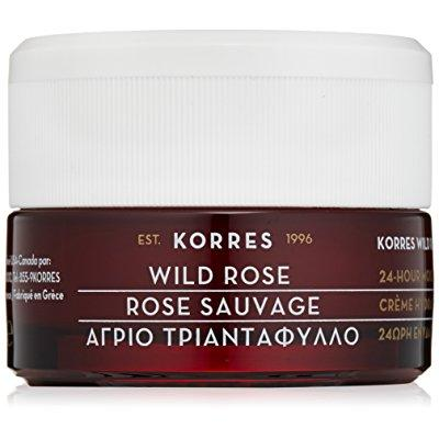 KORRES 24-hour moisturising and brightening cream, wild r...