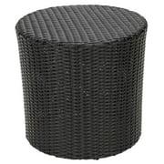Barrel Side Table in Black