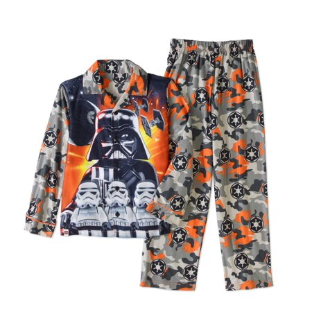 Star Wars Boys' Micro Fleece Pajama Coatstyle 2 pc Sleepwear Set