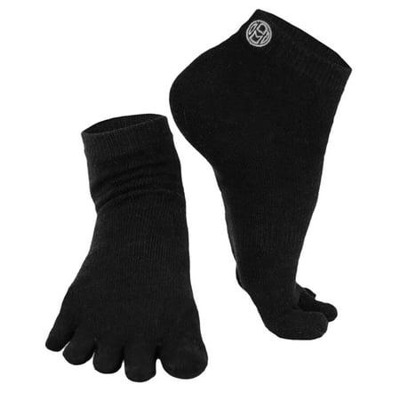 Mato & Hash 5 Toe Active Athletic Performance Sport Toe Socks  - Black CA7000SP S/M