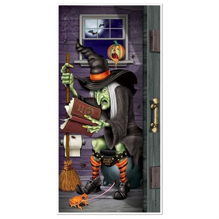 Beistle Witch Restroom Door (Witch's Brew Door Cover)